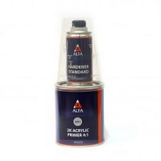 Alfa 2К Акриловый грунт наполнитель 4:1 серый комплект 0,8+0,2л