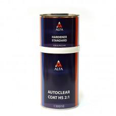 Alfa 2К Прозрачный лак Autoclear HS 2:1 комплекты 0,5+0,25/1,0+0,5л/3,0+1,5л