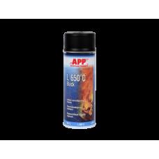 APP Спрей  жаростойкая 650 С черная  500 мл