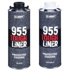 Body 955 Сверхпрочное защитное покрытие  TOUGH LINER  0,6л + отвердитель 955 0,2л чёрное/колеруемое