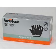 BRULEX  Перчатки нитриловые, черные XL