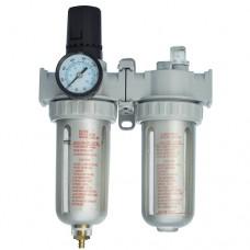 Voylet Фильтр-регулятор давления с манометром и лубрикатором AFRL-80