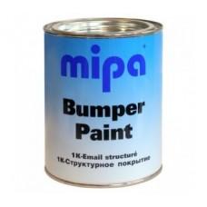 Mipa  Краска структурная для бампера 1л, черная
