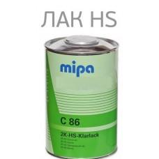 MIPA Лак HS86 2-хкомпонентный в комплекте c oтвердителем 0,5 с сильной защитой от УФ лучей