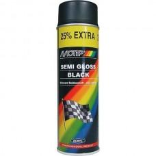 MOTIP Краска-спрей черная полуматовая 500мл