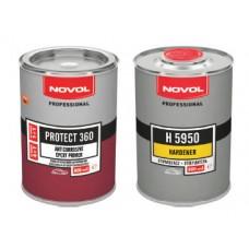 Novol Эпоксидный грунт Protect 360, 800мл + отвердитель H 5950, 800мл