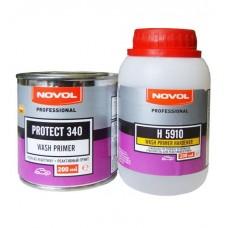Novol Грунт реактивный, антикоррозионный Protect 340 - Wash Primer красный 0,2л  + Отвердитель H5910 0,2л