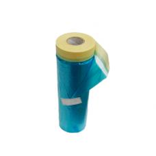 Маскировочная пленка  со скотчем Suntape, голубая, рулон 20м