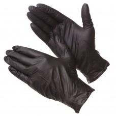 Перчатки GWARD DELTARGRIP Ultra LS, нитриловые, черные, нескользящие