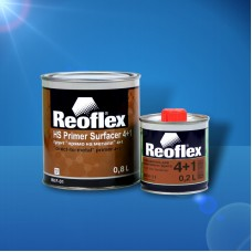 "Reoflex Грунт Primer Surfacer 4+1HS ""прямо на металл"", 0.8л, черный + отверд. 4+1 0,2л"