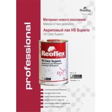 Reoflex  Лак HS акриловый 2К HS Superio прозрачный с отв  Professional (1,0л+0,5л)