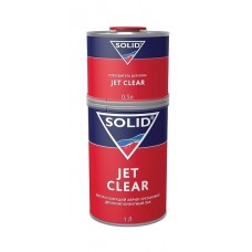 SOLID JET CLEAR 1000мл+500 мл - двухкомпонентный экспресс лак 2+1
