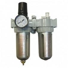 TOR AFRL-80 Двухступенчатый фильтр: фильтр-влагоотделитель с регулятором давления и манометром