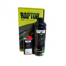 U-Pol Защитное покрытие повышенной прочности RAPTOR 2K бесцветный, колеруемый, черный 0,75л + отвердитель 0,25л